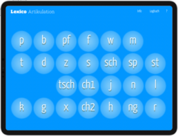 Lexico Artikulation Pro Startbildschirm